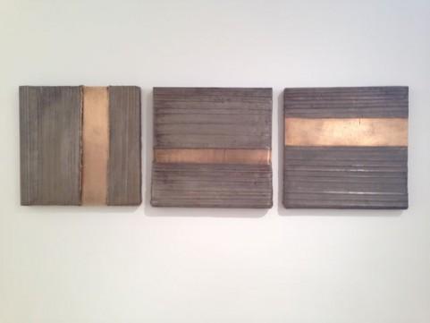 2014 Trois panneaux en bronze